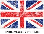 vector grunge styled flag of... | Shutterstock .eps vector #74173438