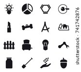 16 vector icon set   bulb ...   Shutterstock .eps vector #741742876