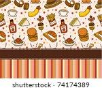 fast food restaurant card | Shutterstock .eps vector #74174389
