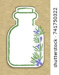 a bottle with essential oil of... | Shutterstock .eps vector #741750322