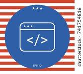 code editor icon | Shutterstock .eps vector #741754816