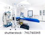 hospital interior with... | Shutterstock . vector #741760345