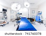close up details of hospital... | Shutterstock . vector #741760378