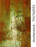 abstract rusty metal texture ... | Shutterstock . vector #741762052