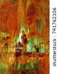 abstract rusty metal texture ... | Shutterstock . vector #741762106