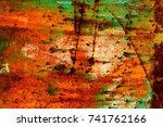 abstract rusty metal texture ... | Shutterstock . vector #741762166