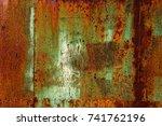 abstract rusty metal texture ... | Shutterstock . vector #741762196