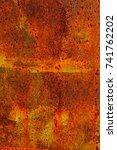 abstract rusty metal texture ... | Shutterstock . vector #741762202