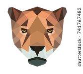 vector polygonal jaguar... | Shutterstock .eps vector #741767482