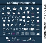 set of cooking icons and... | Shutterstock .eps vector #741772168