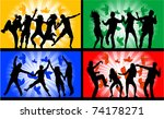 dancing people  illustrations... | Shutterstock .eps vector #74178271