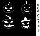 jack o lantern set   Shutterstock .eps vector #741783262