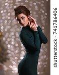 portrait of beautiful woman in... | Shutterstock . vector #741786406