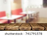 wooden table background | Shutterstock . vector #741791578