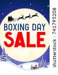 boxing day illustration | Shutterstock . vector #741795208