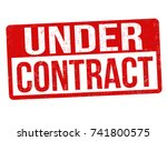 under contract grunge rubber... | Shutterstock .eps vector #741800575