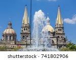 monuments of guadalajara ...   Shutterstock . vector #741802906