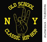 new york  ny hip hop typography ... | Shutterstock .eps vector #741803446