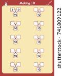 ways to make 10  addition... | Shutterstock .eps vector #741809122
