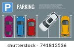 vector illustration city... | Shutterstock .eps vector #741812536