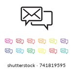 email support icon set | Shutterstock .eps vector #741819595