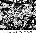 print distress background in... | Shutterstock .eps vector #741820672