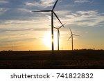 wind farm | Shutterstock . vector #741822832