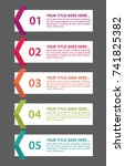 colorful infographic in five... | Shutterstock .eps vector #741825382