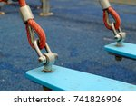 rope slings in the playground... | Shutterstock . vector #741826906