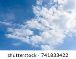 beautiful clouds and sky | Shutterstock . vector #741833422