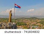 sinj  croatia   august 4  2017...   Shutterstock . vector #741834832