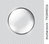 transparent glass sphere with... | Shutterstock .eps vector #741840016