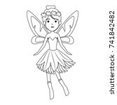 beautiful fairy flying character | Shutterstock .eps vector #741842482