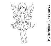 beautiful fairy flying character | Shutterstock .eps vector #741842518