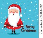 merry christmas santa character | Shutterstock .eps vector #741844036