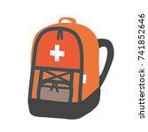 objects useful in emergency... | Shutterstock .eps vector #741852646
