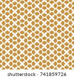 vintage floral art deco... | Shutterstock .eps vector #741859726
