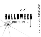 halloween text for poster... | Shutterstock .eps vector #741866806