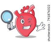 detective heart character... | Shutterstock .eps vector #741876322