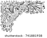 star frame border back to... | Shutterstock .eps vector #741881938