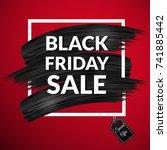 black friday sale banner.... | Shutterstock .eps vector #741885442