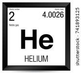helium symbol. element number 2 ... | Shutterstock .eps vector #741893125