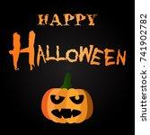 happy halloween design | Shutterstock .eps vector #741902782