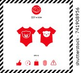 baby rompers icon   Shutterstock .eps vector #741908956