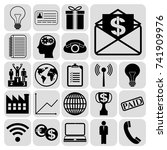 set of 22 business icons ... | Shutterstock .eps vector #741909976