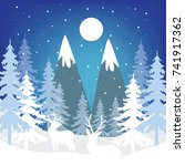 winter theme background series... | Shutterstock .eps vector #741917362