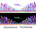 futuristic city skylines at day ... | Shutterstock .eps vector #741920446