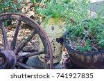 Rusty Old Yellow Farm Jug Used...