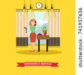 vector illustration of woman... | Shutterstock .eps vector #741937636