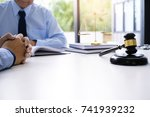 legal counsel presents to the... | Shutterstock . vector #741939232